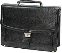 Портфель деловой из искусственной кожи черный B978 black