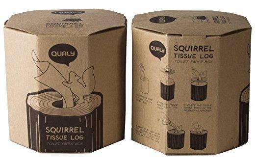 Салфетница Qualy Squirrel Tissue Log, фото 2