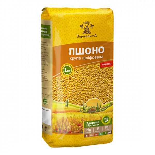 Пшено  Зерновита 1 кг - QMART. Продукты питания и кондитерские изделия в Киеве