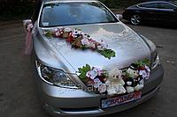 Украшение свадебного автомобиля - мишки на капот