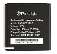 Аккумулятор Prestigio PAP4020 1700 mAh Батарея оригинальная. 1 год гарантии.