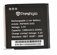 Аккумулятор Prestigio PAP4040 1500 mAh Батарея оригинальная. 1 год гарантии.