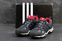 Чоловічі зимові  кросівки  Adidas AX2 (3245) темно сині  з  червоним
