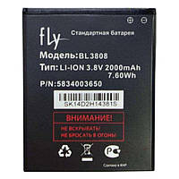 Аккумулятор Fly BL3808 2000 mAh IQ456. Батарея оригинальная. Гарантия: 1год.