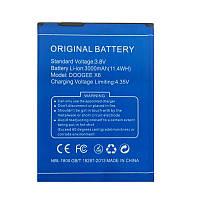 Аккумулятор Doogee X6, X6 Pro 3000 mAh Батарея оригинальная. Гарантия: 1год.