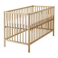 Кроватка детская, бук SNIGLAR