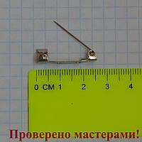 Основа для броши, 25 мм, цвет: серебро, фото 1