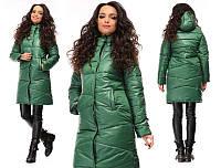 Пальто женское с капюшоном на тинсулейте зима