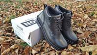 Мужские кожаные зимние ботинки 048 ч.