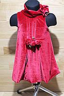 Велюровое платье на девочку 4-5 лет