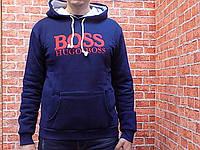 Толстовка мужская с капюшоном (цвет синий) BOSS.р-р XXL