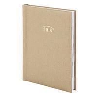 Ежедневник, А5, датированный, 2018 год, Denim, золотой, Brunnen, 737956591