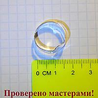 Основа для кольца простая светло-серебристая, фото 1
