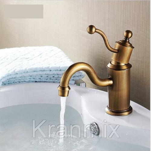 Бронзовый смеситель для умывальника Aquaroom кран для раковины в ванную в душ