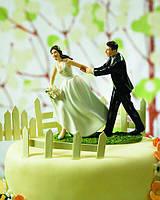 Статуэтки на прикольный свадебный торт 1022