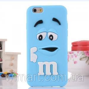 Чехол M&M's для Apple iPhone 6/6s голубой