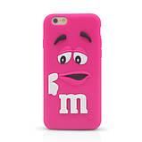 Чехол M&M's для Apple iPhone 6/6s голубой, фото 3