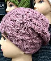 Шапка зимняя, модная вязка. Качество ЛЮКС, утеплена флисом. 14 цветов. код 6040К