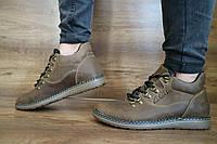 Мужские зимние ботинки Clarks (оливка), ТОП-реплика, фото 1