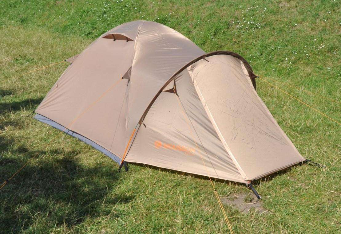 Трехместная палатка Mousson ATLANT 3 SAND, материал - полиэстер, каркас - стекловолокно, желтая, 7764