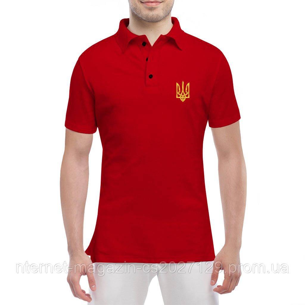 Футболка поло с Гербом Украины - футболки патриотические