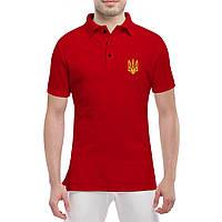 Футболка поло с Гербом Украины - футболки патриотические, фото 1