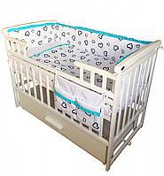 Детская постель  Twins Premium P-051 Сердечка 7 ел