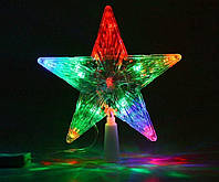 Новогодняя Верхушка для Елки Звезда с Подсветкой на Ель 25 см для Атмосферы Нового Года Рождества