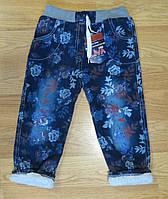Теплые джинсы для девочки (рост 110, 116, 128)