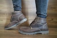 Мужские зимние ботинки PAV (коричневые), ТОП-реплика, фото 1