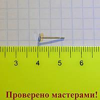 Основа для пусет, площадка 0,4 см (медицинская сталь), пара + заглушки, фото 1