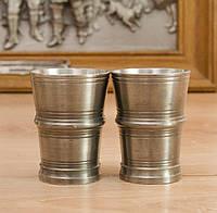 Две старые оловянные рюмки, стопки, пищевое олово, Германия , фото 1