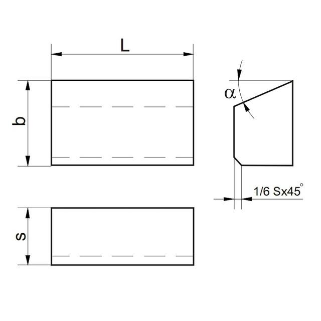 Пластины напайные т/с ТИП 01, 02, 61, 62