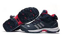Зимние кроссовки мужские Adidas Climaproof, темно-синие с серым, на меху, р. 42