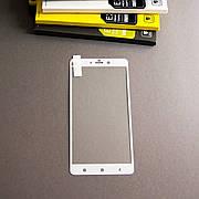 Защитное стекло Full Cover на Xiaomi Mi Note (pro) Белое