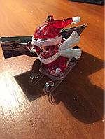 Игрушка Снеговик на санках 7см
