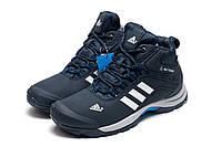 Зимние кроссовки мужские Adidas Climaproof, темно-синие, на меху, р. 42