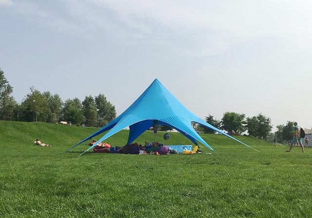 желтая палатка