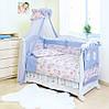 Дитяче ліжко Twins Standart З-015 Пухнасті ведмедики, блакитна