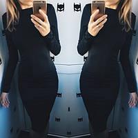 Платье карандаш миди (Черный)