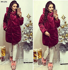 Зимняя куртка из бархата 896 (29)