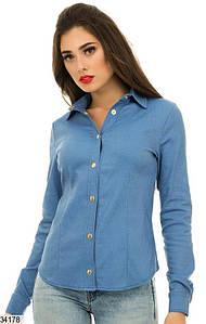 Женская джинсовая рубашка 34176 КТ-1924