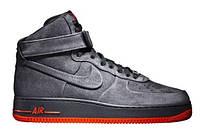 "Зимние кроссовки на меху Nike Air Force 1 High ""Grey"" - ""Серые"""