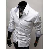 Стильная сорочка мужская (Белый)