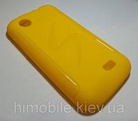 Силикон чехол для Lenovo A318T / A369 желтый