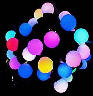 """Гирлянда-шарики уличная HolidayProf """"Нить из шариков 25мм"""" 100LED 10м RGB (черн. кабель)"""