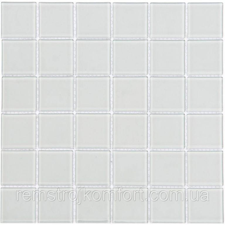 Мозаика Vivacer Одноцвет прозрачное стекло PM-01 30x30/4.8x4.8