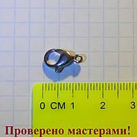Застежка-карабин 1,3 см, медицинская сталь, 1 шт