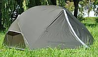 Легкая двухместная палатка Mousson AZIMUT 2 KHAKI, материал - нейлон, каркас - алюминий, серая, 7769