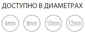 Шнур HANSA из керамического волокна Ø6 мм, длина 2,5м, фото 2